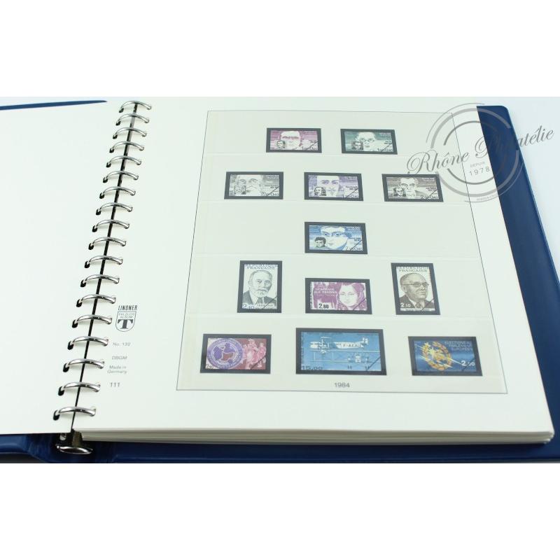 ALBUM LINDNER 1984-1989, FEUILLES pour timbres de France