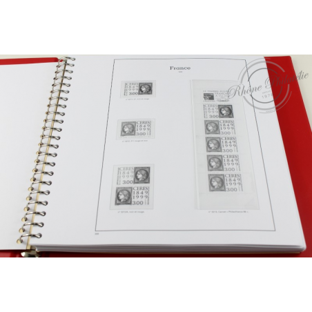 ALBUM YVERT T. 1999-2001 BOITIER ET FEUILLES pour timbres de France