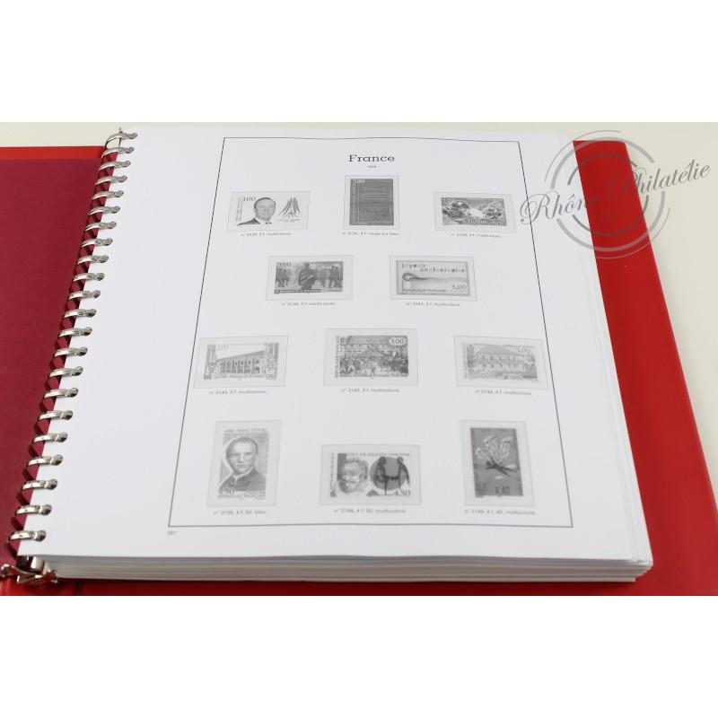 ALBUM YVERT T. 1989-1998 BOITIER ET FEUILLES pour timbres de France