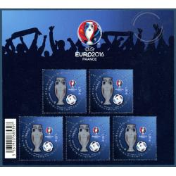 BLOC FEUILLET N°137 UEFA EURO 2016 FRANCE
