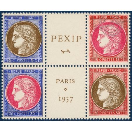 N°348 A 351 (BLOC CENTRAL) PEXIP, TIMBRES NEUFS** 1937