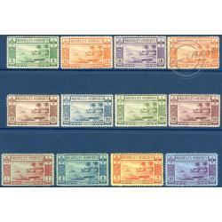 NOUVELLES-HÉBRIDES N°100 A 111 TIMBRES POSTE DE 1938, NEUFS**/*