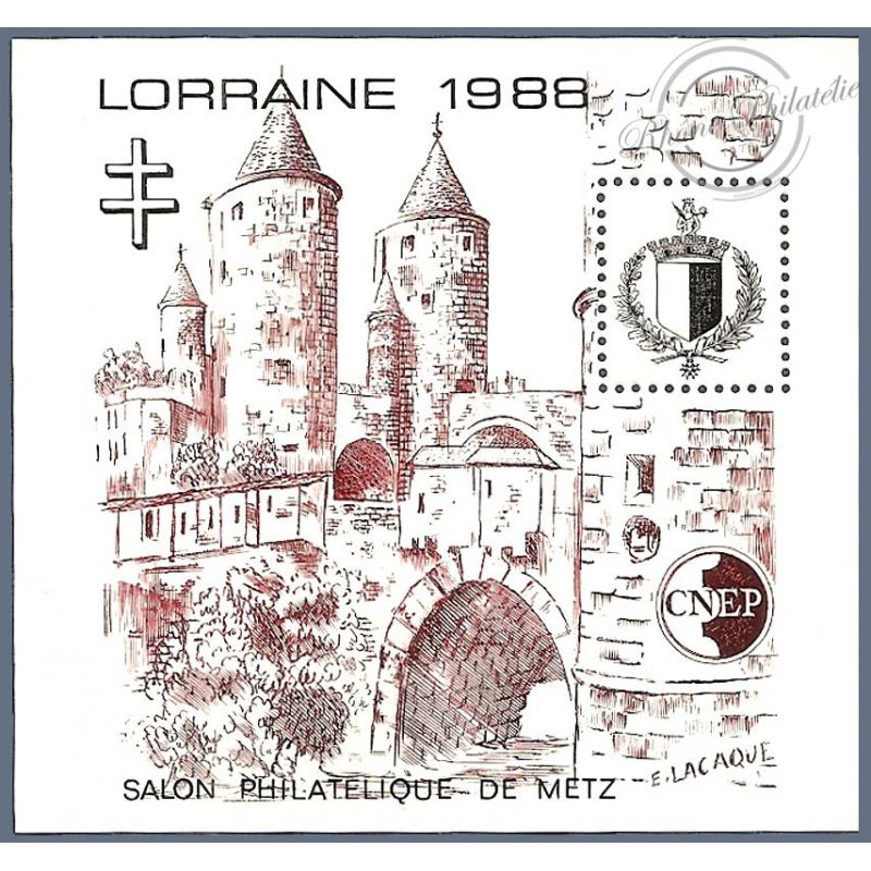 "BLOC CNEP N°9 ""LORRAINE 1988"" TTBE"