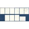 NOUVELLES-HÉBRIDES N°476 A 485 TIMBRES POSTE DE 1972-1975, NEUFS**, 1977
