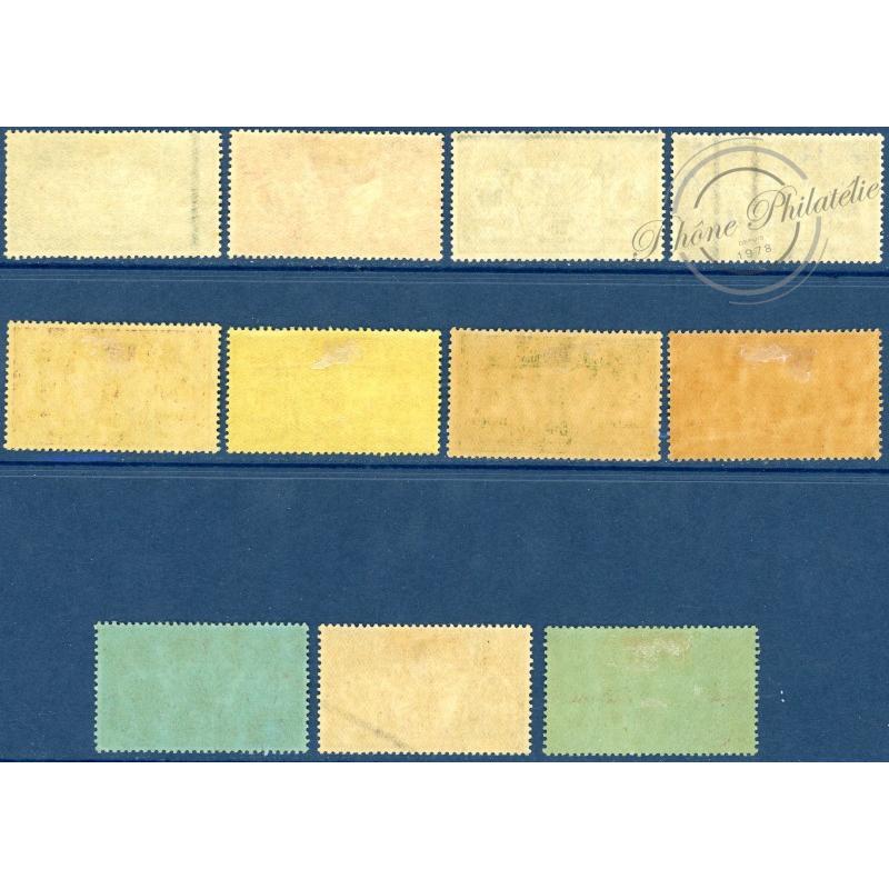 NOUVELLES-HÉBRIDES N°38 A 48 TIMBRES POSTE DE 1911, NEUFS*