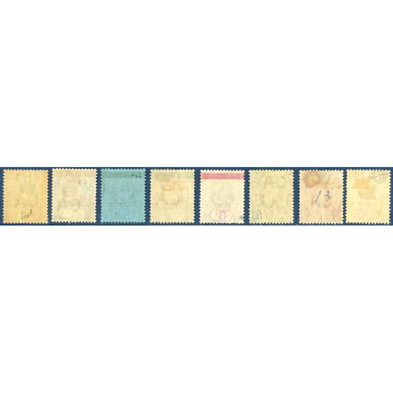 NOUVELLES-HÉBRIDES N°6 A 14 (SANS N°11) TIMBRES POSTE DE 1908-09, NEUFS*