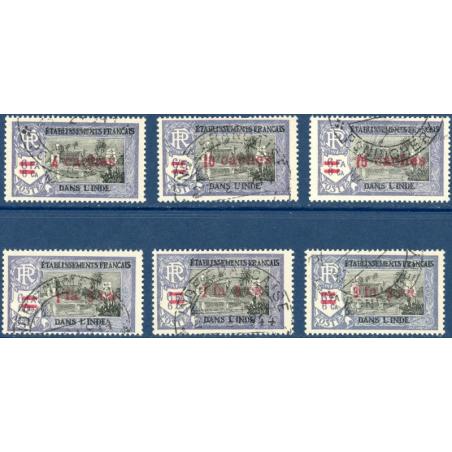 INDE N°192-197 TIMBRES POSTE TYPE FRANCE LIBRE, 1942
