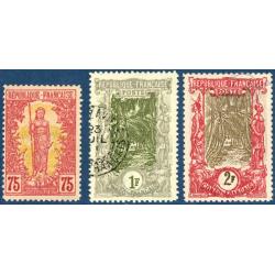 CONGO N°38 A 40 TIMBRE DES COLONIES FRANCAISES SURCHARGÉ, 1900-04