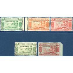 NOUVELLES-HÉBRIDES TIMBRES-TAXE N°11 A 15 DE 1938, NEUFS**