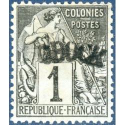 OBOCK N°1 TIMBRE POSTE NEUFS* SANS GOMME, 1892