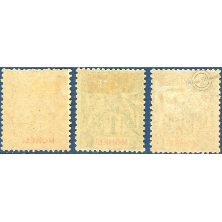 MOHELI N°13 A 15 TIMBRES POSTE TYPE SAGE, NEUFS*, 1906-1907