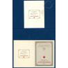 LOT 3 CARNETS CROIX-ROUGE  DE 1957, N°2006 TIMBRES NEUF**