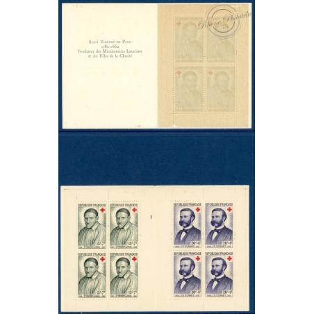 LOT DE 2 CARNETS CROIX-ROUGE N°2007 TIMBRES NEUFS** 1958