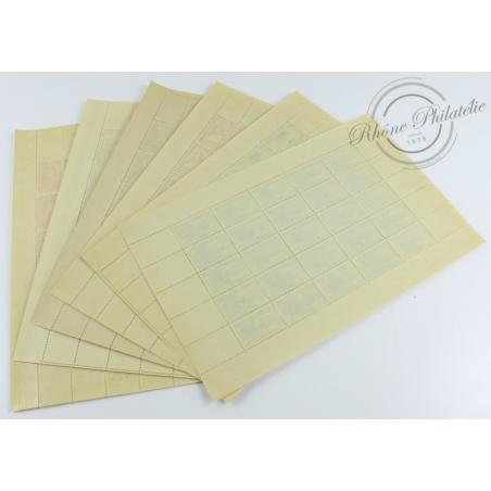 SÉRIE FEUILLES COMPLÈTES N°765 A 770, TIMBRES NEUFS** - 1946