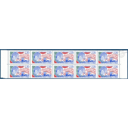 BANDE 10 TIMBRES N°2556 ET 1 TIMBRE N°2556b LE THERMALISME, TIMBRE NEUF** 1988, TTB