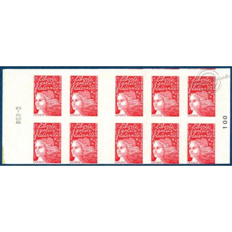 CARNET 10 TIMBRES N°3085-C6 MARIANNE ROUGE DU 14 JUILLET (1997)