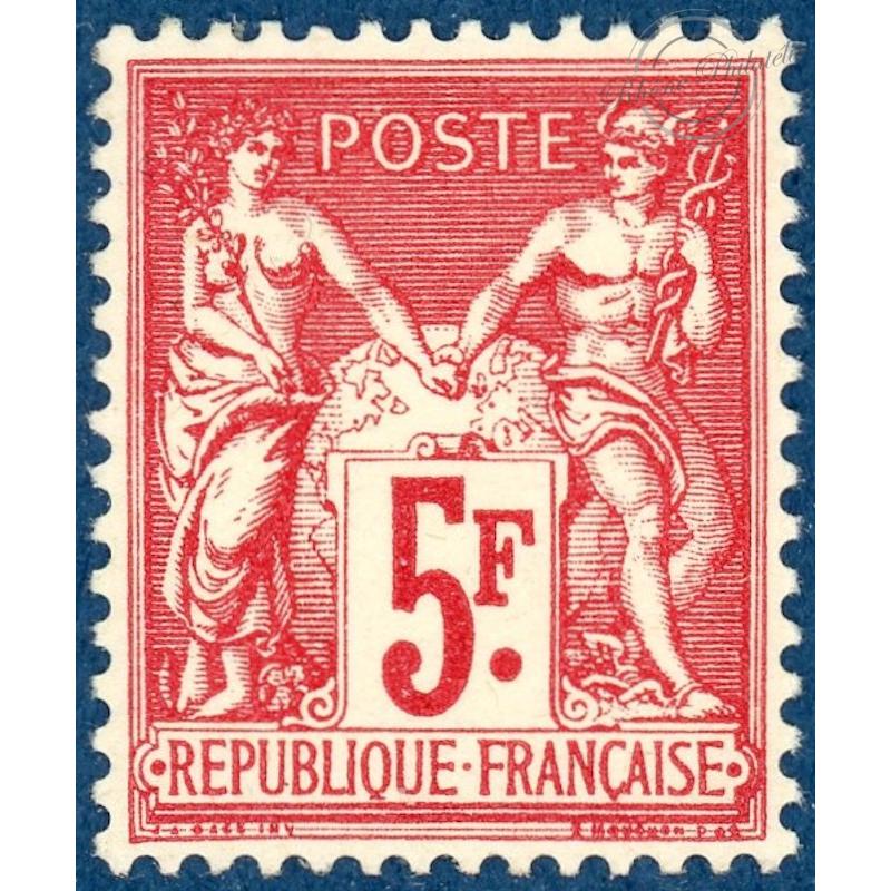 N°216 TYPE SAGE 5f CARMIN EXPOSITION PARIS TIMBRE NEUF** 1925