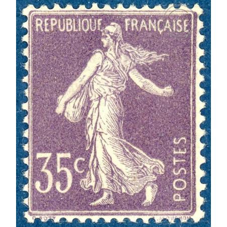 N°136 SEMEUSE FOND PLEIN 35C VIOLET TIMBRE NEUF** 1906