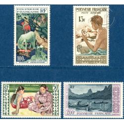 POLYNESIE POSTE AERIENNE N°1 A 4 TIMBRES POSTE NEUFS*, 1958
