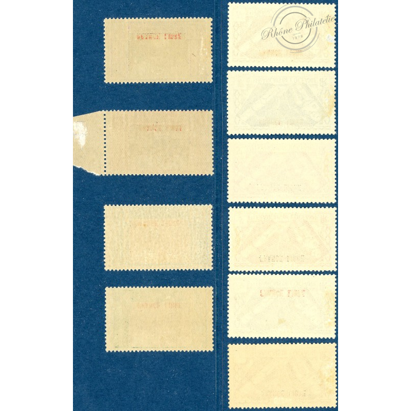 OCEANIE N°140 A 149 SERIE COMPLETE FRANCE LIBRE, TIMBRES NEUFS*