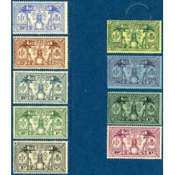 NOUVELLES-HÉBRIDES N°91 A 99 TIMBRES POSTE DE 1925, NEUFS**