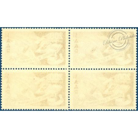 BLOC DE 4 SARRE PA N°13, CONSEIL DE L'EUROPE, TIMBRE NEUF** 1950