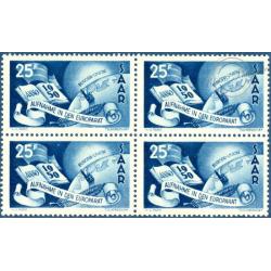 BLOC DE 4 SARRE N°277 TIMBRES POSTE NEUFS**, 1950