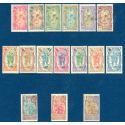 COTE DES SOMALIS N°67-82 TIMBRES POSTE AVEC CHARNIERE, 1909