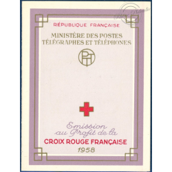 CARNET CROIX-ROUGE N°2007, TIMBRES NEUFS**, 1958