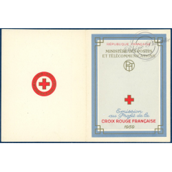 CARNET CROIX-ROUGE N°2008, TIMBRES NEUFS**, 1959