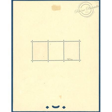BLOC °2 EXPOSITION PHILATÉLIQUE STRASBOURG 1927, TIMBRES NEUFS*, SIGNÉ BRUN