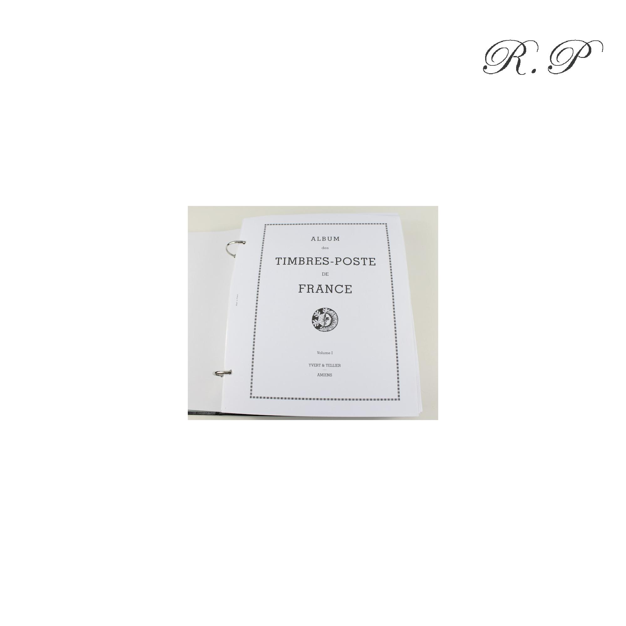 ALBUM YVERT ET TELLIER 1849-1969 TIMBRES DE FRANCE N°1