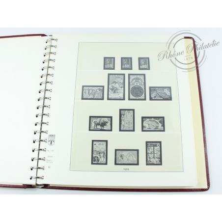 ALBUM LINDNER 1974-1982, feuilles pour timbres de France