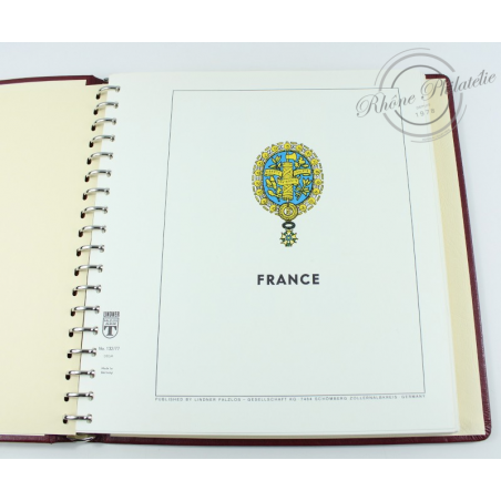 ALBUM LINDNER 1983-1989, feuilles pour timbres de France