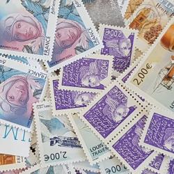 LOT DE 100 TIMBRES-POSTE 2 €