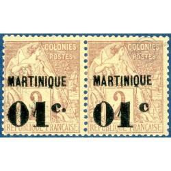 MARTINIQUE N°7, VARIÉTÉ SANS POINT APRES LE C, TIMBRES NEUFS SANS CHARNIÈRE