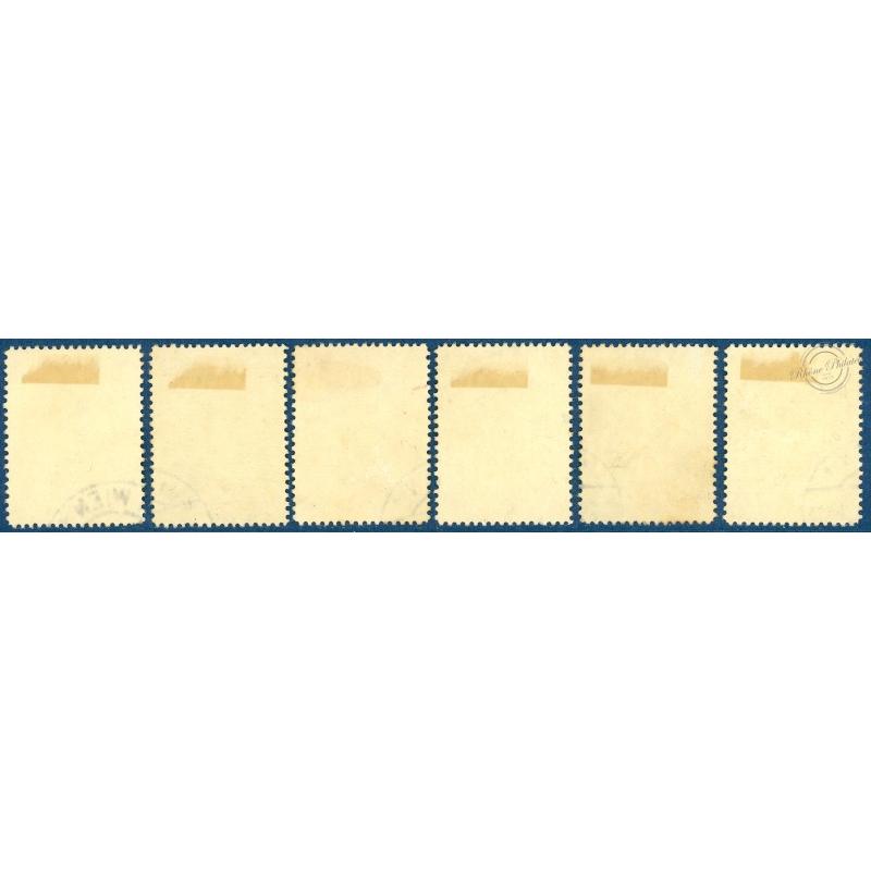 AUTRICHE N°460A-465, SERIE DES ARCHITECTES, SERIE COMPLETE, 1934