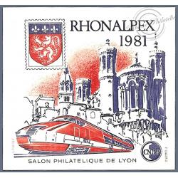 """BLOC CNEP N°2 """"RHONALPEX"""" 1981 LUXE"""