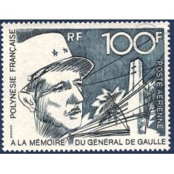 POLYNESIE POSTE AERIENNE N°_70 PORTRAIT GENERAL DE GAULLE