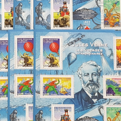 LOT DE 49 BLOCS N°85 JULES VERNE, FACIALE 155€, ANNEE 2005