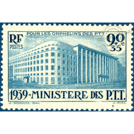 FRANCE N°424 ORPHELINS DES P.T.T, TIMBRE NEUF**, 1939