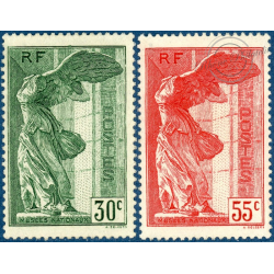 FRANCE N°354-355 VICTOIRE DE SAMOTHRACE, TIMBRES NEUFS** -- 1937
