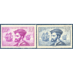 FRANCE N°296-297, JACQUES CARTIER, TIMBRES NEUFS ** - 1934