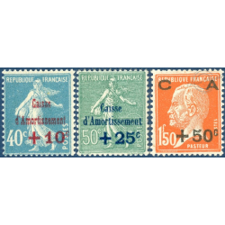 FRANCE N°246 A 248 CAISSE D'AMORTISSEMENT, TIMBRES NEUFS ** - 1927