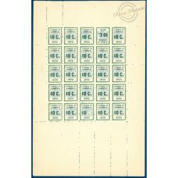 FRANCE GREVE N°1, FEUILLE DE 25 TIMBRES AVEC 1A ET 1B, NEUFS** - 1909