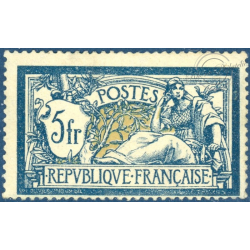 FRANCE N°123 TYPE MERSON 5f. BLEU ET CHAMOIS, TIMBRE NEUF** - 1900