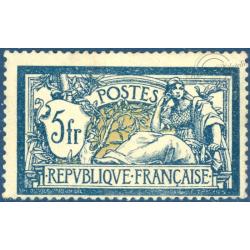 FRANCE N°123 TYPE MERSON 5f. BLEU ET CHAMOIS, TIMBRE NEUF** - 1900