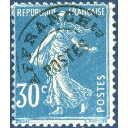 FRANCE PREOBLITERE N°60 TYPE SEMEUSE FOND PLEIN 30C BLEU, TIMBRE NEUF* 1922-47