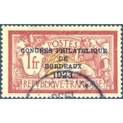 FRANCE N°182 CONGRÈS PHILATÉLIQUE DE BORDEAUX, TIMBRE OBLITÉRÉ - 1923