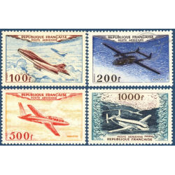 FRANCE PA N°30 A 33 PROTOTYPES, SÉRIE TIMBRES NEUFS** --1954